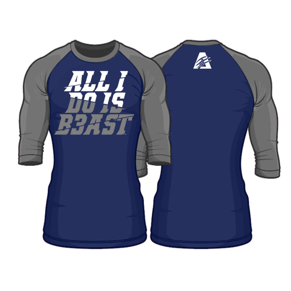 Navy Blue/Grey | Perform Raglan