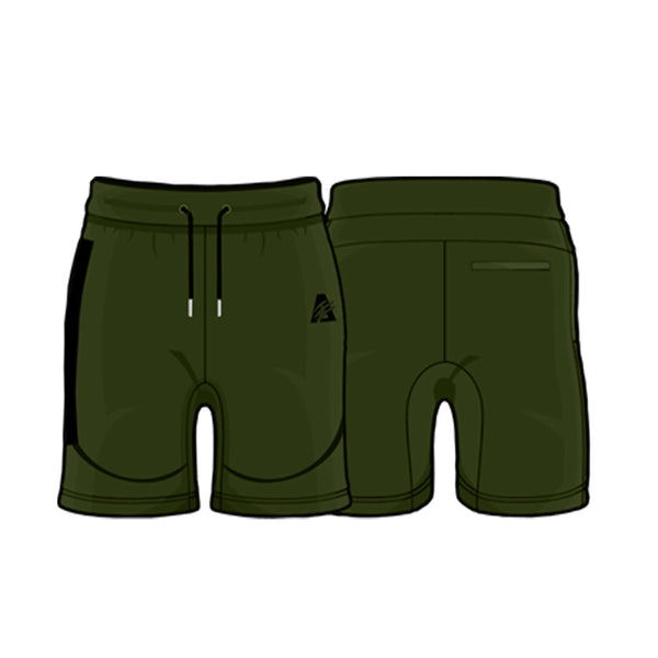 Deep Olive/Black | Tech Fleece Shorts