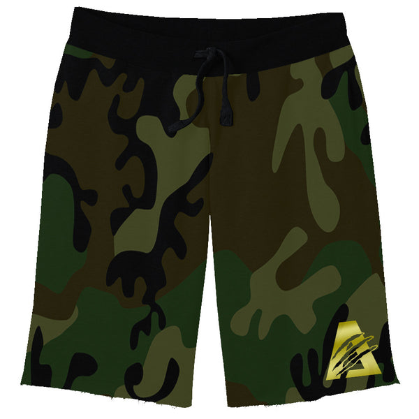 Green Camo/Gold/Black| Combat Sweat Shorts