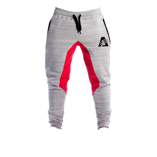 Grey/Red | AlphaTECH™ | FITTED Joggers