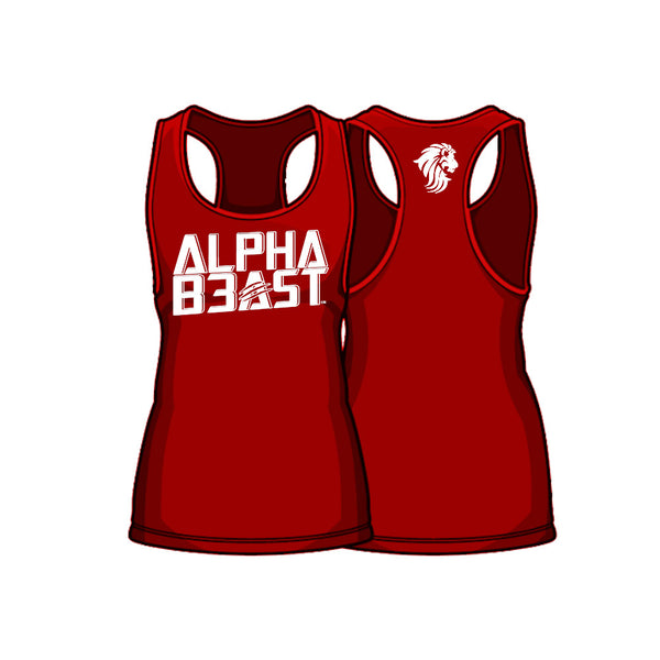 Fire/White | AlphaFit™ Men | Stringer Tank