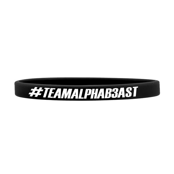 #TEAMALPHAB3AST | THIN WRISTBAND | ONYX/WHITE