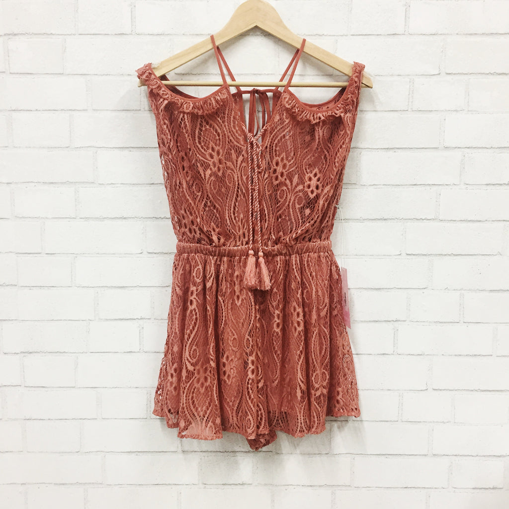 Sunset Lace Romper