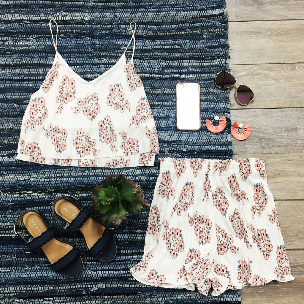 Everything is Rosy Set - Shorts