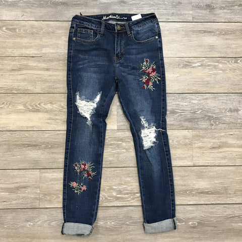 Faded Floral Jeans