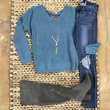 I've Got the Blues Sweater - Runway Seven  - 1