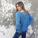 I've Got the Blues Sweater - Runway Seven  - 2