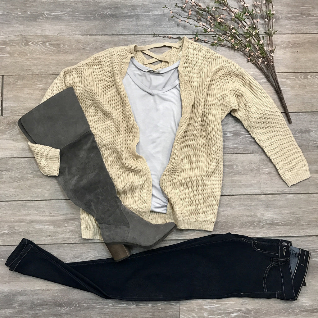 Criss-Cross Cardi Sweater - Runway Seven  - 1