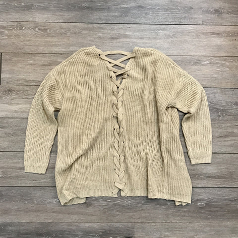 Criss-Cross Cardi Sweater
