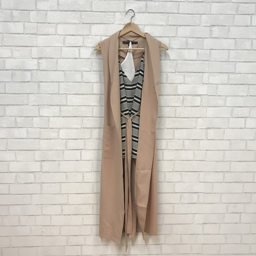 Tall in Taupe Kimono - Runway Seven  - 1