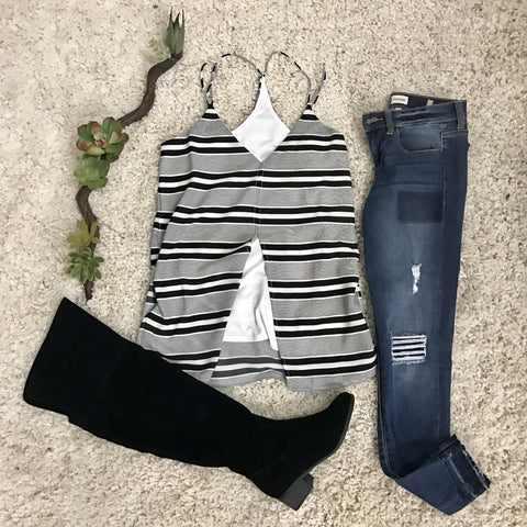 Obsessed with Stripes Top