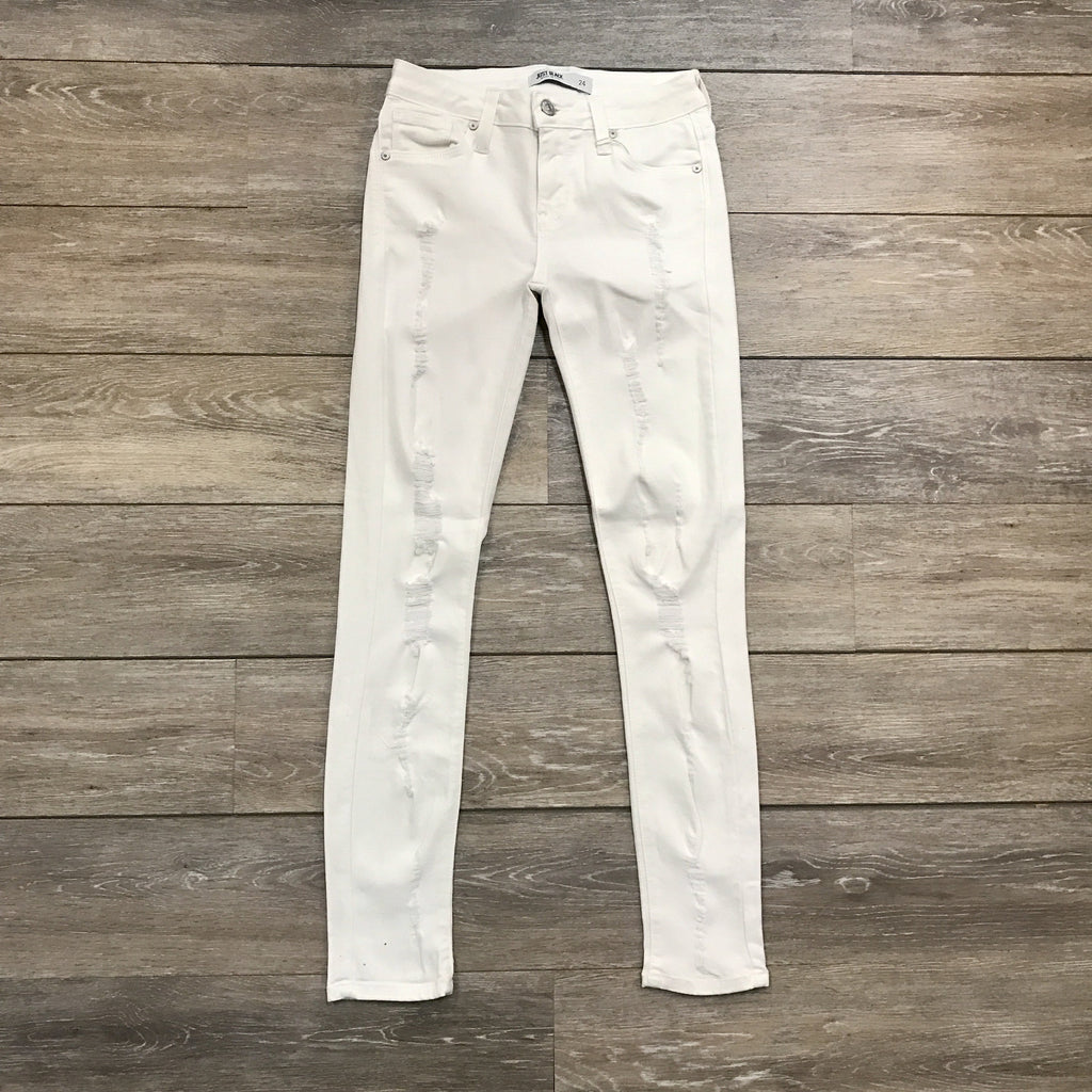 Pearly White Jeans - Runway Seven  - 1