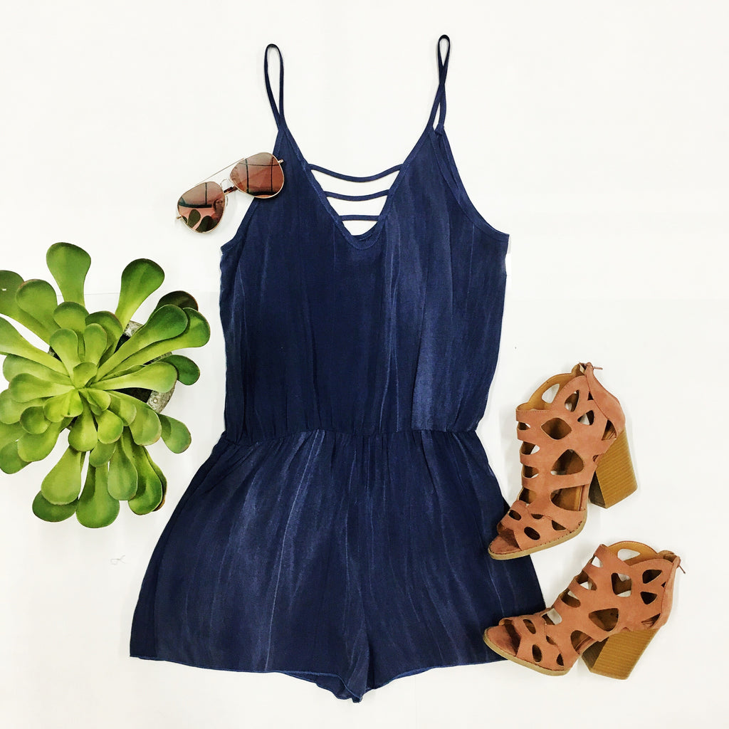 Summer Chic Romper - Blue