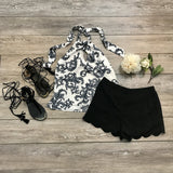 Gray Vines Top