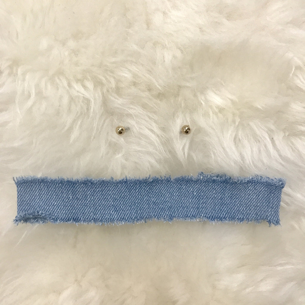 Light Denim Choker Set
