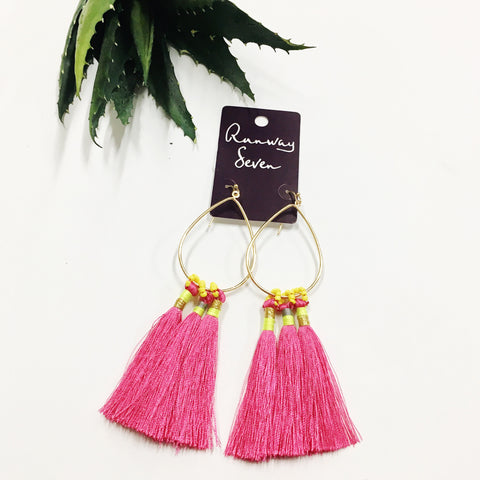 Halo Earrings-Coral