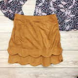 Sweet Scalloped Suede Skirt - Runway Seven  - 2