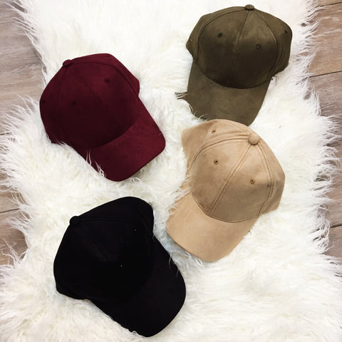 Faux Real Suede Hat