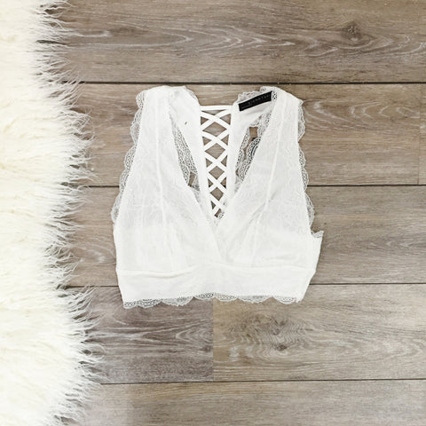 Lace Loving Bralette - White