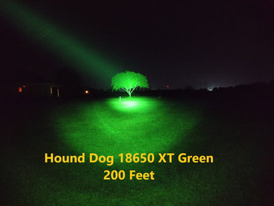 Malkoff Hound Dog 18650 XT Green Head Only