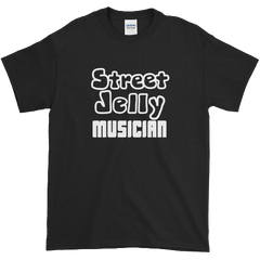 StreetJelly Musician B&W Ultra-Soft Cotton T-Shirt