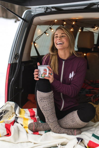 let adventure fill your soul light weight zip hoodie maroon the montana scene