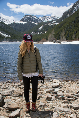 the montana scene life is better in the mountains plaid trucker