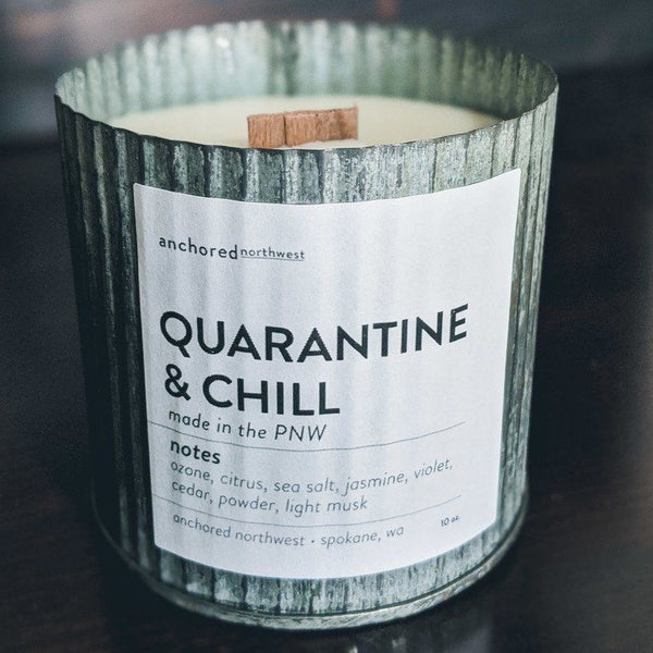 Quarantine & Chill - Rustic Vintage Candle