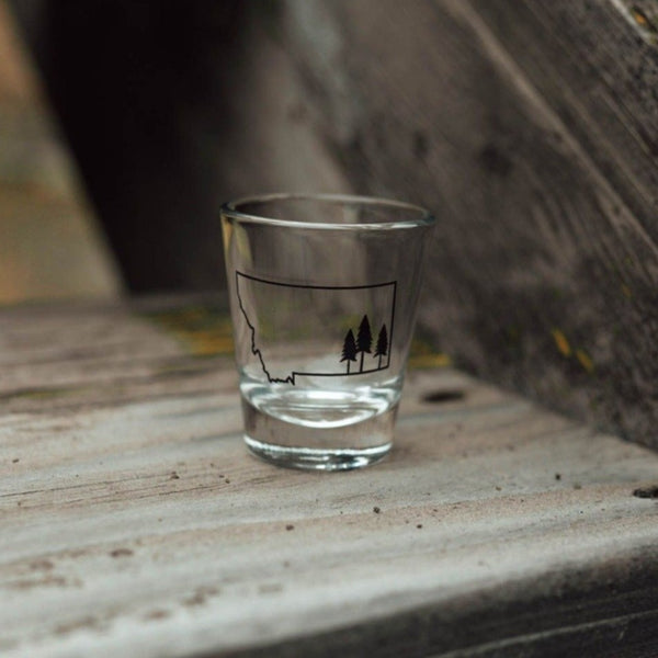 Tree Outline Shot Glass