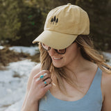 Three Tree Dad Hat - Light Yellow