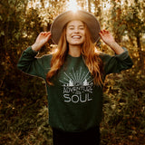 Let Adventure Fill Your Soul Fleece - Green