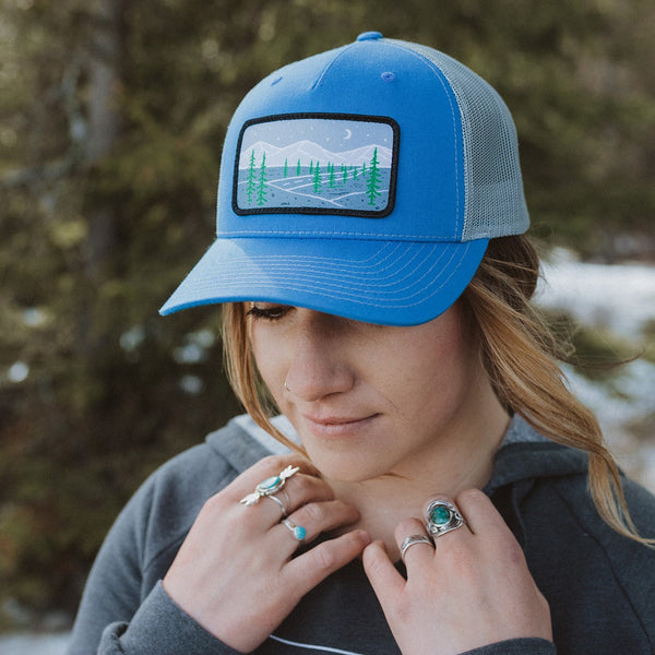 Starry Road Trucker - Blue