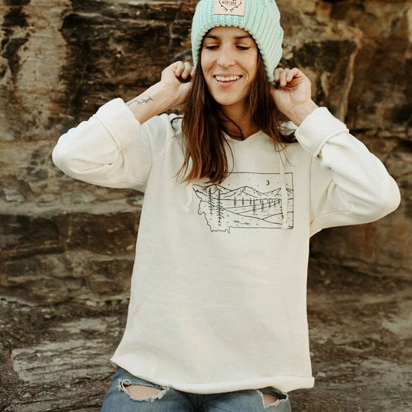 montana starry road ladies hoodie