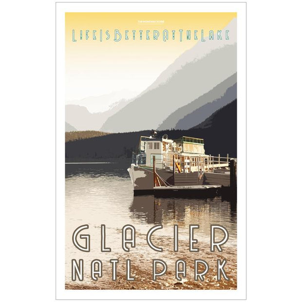 Life is Better at the Lake GNP Poster 1