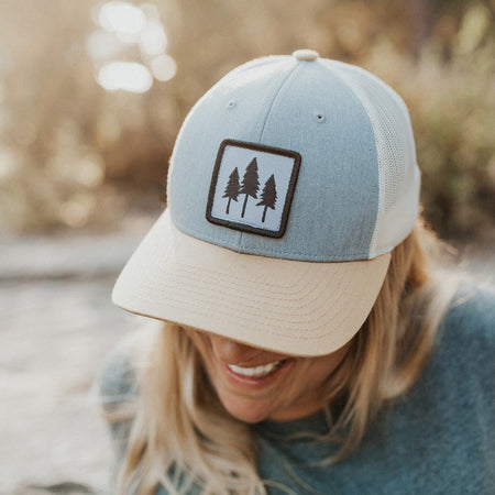 Life is Better in Montana Trucker Leather Blue