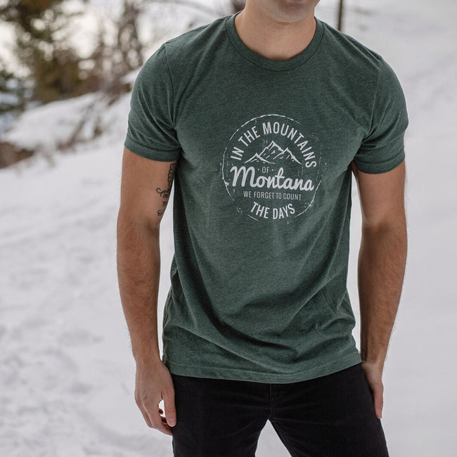 In the Mountains of Montana Unisex Tee - Pine