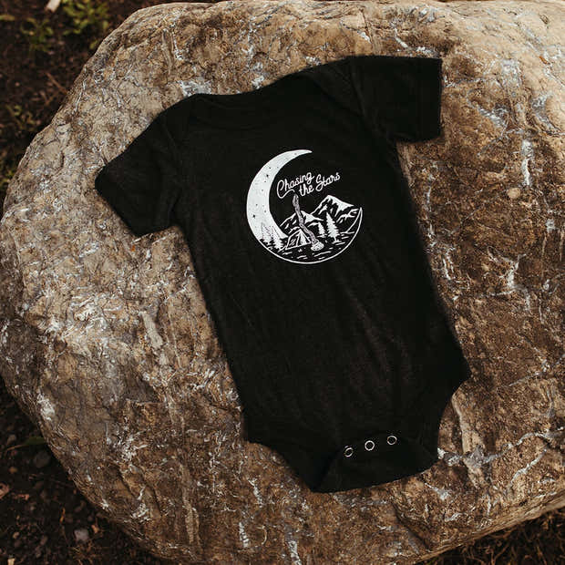 Chasing the Stars Onesie - Charcoal 1