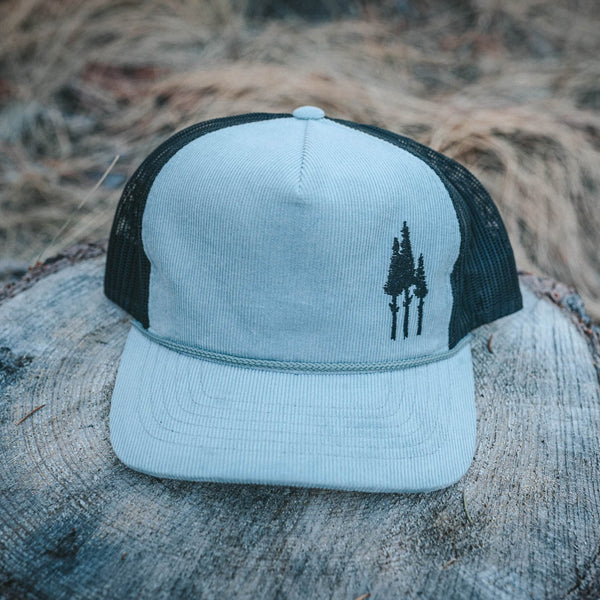Rustic 3 Tree Corduroy Trucker - Grey