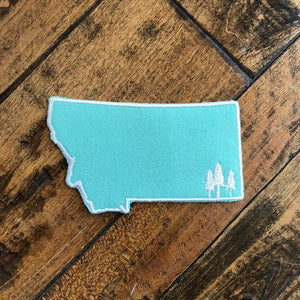 Montana Trees Patch - Teal