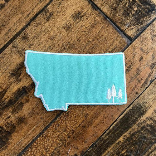 montana trees patch teal