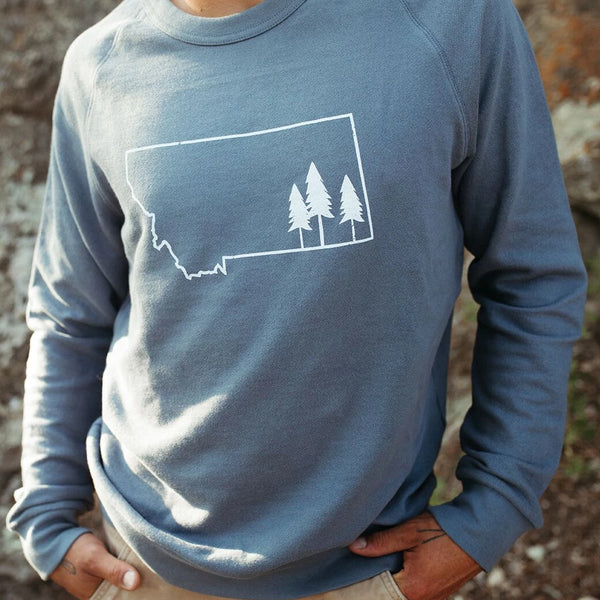 Tree Outline Unisex Pullover - Indigo
