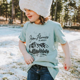 Snow Flurries No Worries Youth Tee - Dusty Blue