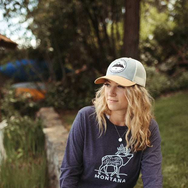 Life is Better in the Mountains Tri Tone Trucker 1