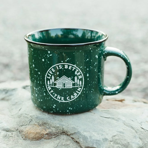 Life is Better at the Cabin Ceramic Mug - Green