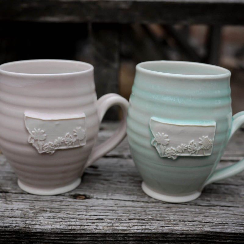 Montana Wildflower Cafe Mug - Pink/Mint