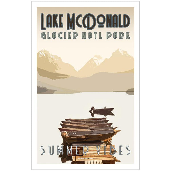 Summer Vibes Lake McDonald GNP Poster