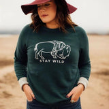 stay wild bison pullover