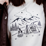 Wild Soul Ladies Crew Fleece - Cream