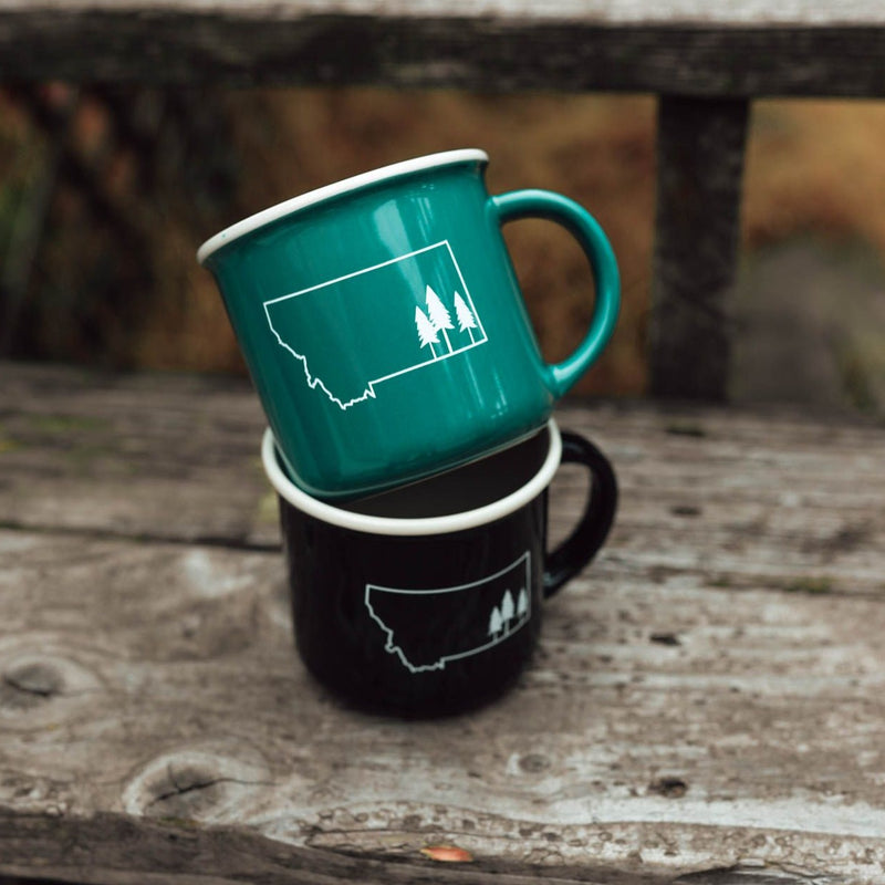 montana tree outline mug