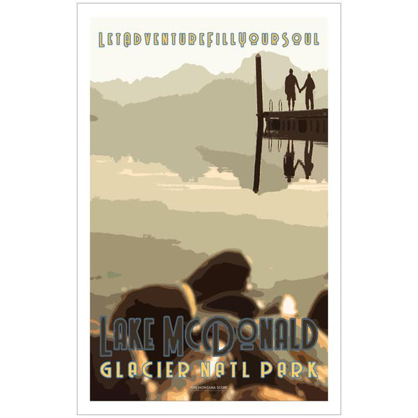 Let Adventure Fill Your Soul Lake McDonald GNP Poster